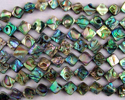 10x10 mm abalone bead